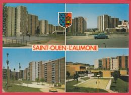 CP-95-SAINT-OUEN-L'AUMONE-Cité Des BROUILLARDS - Quartier De Chennevière * Blason- Armoiries*SUP **2 SCANS - Saint Ouen L'Aumone