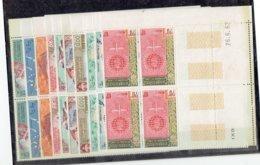 TP - LAOS - 3 SERIES BLOCS DE 4 COINS DATES** LUXE N° 37 à 39 - N° 51 à 54 - N° 79 à 81 De 1957 - Laos