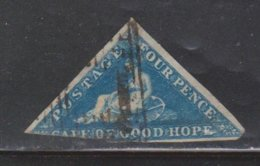 CAPE OF GOOD HOPE Scott # 4 Used - Cut In At Bottom & Clipped Corner CV $85.00 - South Africa (...-1961)