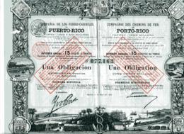 Compania De Los FERROCARRILES De PUERT-RICO; Una Obligación - Chemin De Fer & Tramway