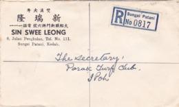 BUSTA VIAGGIATA RACC. - MALAYA - MALESIA - SUNGEI PATANI - SIN SWEE LEONG - ANNO. 1958 - VIAGGIATA CON 3 VAL. - Malesia (1964-...)