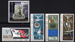 MALTA 1969 Fifth Anniversary Of Independence - Malta