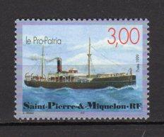 Saint-Pierre Et Miquelin Yvert  N° 697 Neuf Les Bateaux De Saint-Pierre Et Miquelon ( Le Pro-Patria ) Lot 23-3 - Ungebraucht