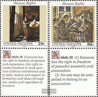 UN - New York 640-641 With Zierfeld (complete Issue) Unmounted Mint / Never Hinged 1992 Human Rights - New York – UN Headquarters