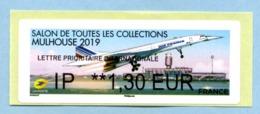 2019 1 Vignette Lettre Prioritaire Internationale  Lisa Brother Salon De Toutes Les Collections De Mulhouse - 2010-... Vignettes Illustrées