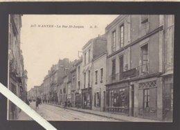 """Nantes / La Rue Saint Jacques Et Tous Ses Commerces Dont """"épicerie Du Progrès"""" - Nantes"""
