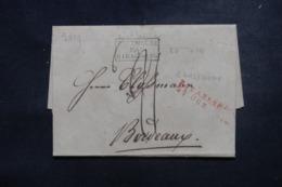 """FRANCE / ALLEMAGNE - Cachet D'entrée """" Allemagne Par Strasbourg """" Sur Lettre De Carlsruhe En 1819 - L 45778 - Poststempel (Briefe)"""