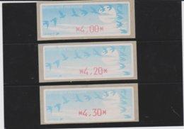 France 3 Vignettes Distributeur Type C DIVA  N°YT 212 - 4,00 4,20 4.30 - 1990 Type «Oiseaux De Jubert»