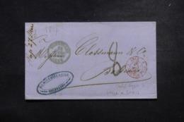 """FRANCE / BELGIQUE - Cachet D'entrée """" Belg./ Valenciennes 5"""" En Rouge Sur Lettre De Bruxelles En 1857 - L 45779 - Marcophilie (Lettres)"""