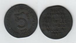 Région Provencale  5c 1918  5 Cent. Nice, Avignon, Nimes, Alais, Marseille, Arles, Digne, Toulon, Gap - Monetari / Di Necessità