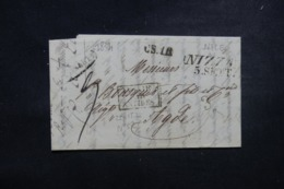 """FRANCE / ITALIE - Cachet D'entrée """" Italie Par Antibes """" Sur Lettre De Nice Pour Adge En 1834 - 45780 - Marcofilia (sobres)"""