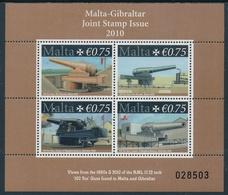 Malta 2010 ** Malta-Gibraltar- Emisión Conjunta- Mini Hoja 01576/79 MH - Malta