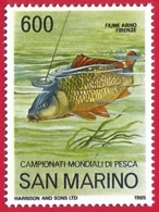 San Marino. 1985. Mi 1328. World Angling Championships. Arno River. Florence - San Marino