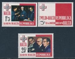 Malta 1975 ** Proclamacion De La Republica (3 Valores) 00500/02 - Malte