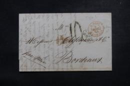 """FRANCE / ITALIE - Cachet D'entrée """" E. Pont. / Marseille """" Sur Lettre De Rome En 1864 - L 45783 - Poststempel (Briefe)"""