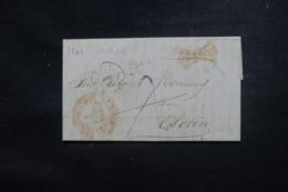 """FRANCE / ESPAGNE - Cachet D'entrée """" Espagne / D'Oloron """" Sur Lettre En 1849 - L 45784 - Marques D'entrées"""