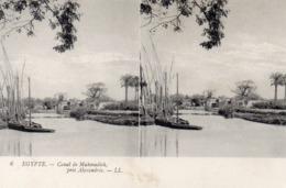 Carte Postale Stéréoscopique   égypte  Canal De Mahmadieh - Stereoscopi