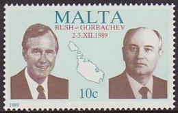 Malta 1989 ** Cumbre Americano-sovietica 00809 - Malte
