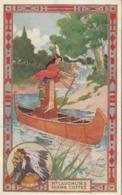 ADV: McLaughlin's HIAWA Coffee , 00-10s ; Indian Girl In Canoe - Indiani Dell'America Del Nord