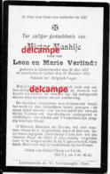 Oorlog Guerre Victor Vanhije Lichtervelde Soldaat Gesneuveld Te Calais Oktober 1914 Verlinde Doodsprentje - Imágenes Religiosas