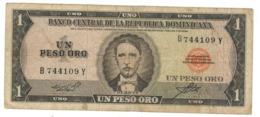 Dominican Rep. 1 Peso, F/VF - Dominicana