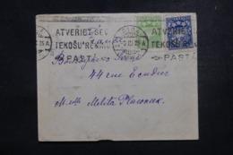 LETTONIE - Enveloppe De Riga Pour La France En 1925, Affranchissement Plaisant - L 45788 - Latvia