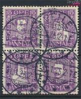 Dänemark 135-138Vbl Viererblock Gestempelt 1924 Dänische Post (9350210 - 1913-47 (Christian X)