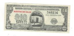 Dominican Rep. 10 Centavos MUESTRA SIN VALOR. VF/XF. - Dominicana