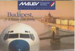 BUDAPEST - MALEV  Airlines - Andere