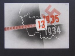 Saar-Abstimmung 1935 Mit SST 13.1.1935 SAARABSTIMMUNG HEIL HITLER - War 1939-45