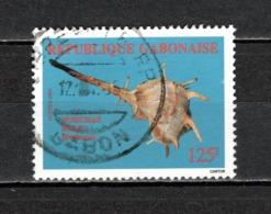 GABON  N° 782B  OBLITERE  COTE 7.50€   COQUILLAGE ANIMAUX - Gabon