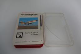 Speelkaarten - Kwartet, Verkeersvliegtuigen, Neue Nurnberger Spielkarten , No. 261113 , *** - Vintage - Speelkaarten