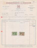 1957: Factuur Van ## Etablissements A. DEMOOR, Meibloemstraat, 18-20, GENT ##  Aan ## Dhr. VAN AUTRYVE, Ham, 47, GENT ## - Printing & Stationeries