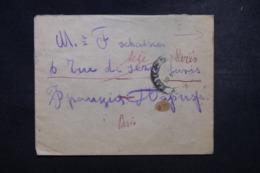 RUSSIE - Enveloppe Pour La France En 1922, Affranchissement Plaisant Au Verso - 45798 - Covers & Documents