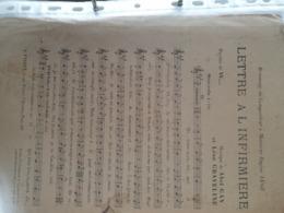 PATRIOTIQUE 14 -18 /LETTRE A L INFIRMIERE - Scores & Partitions