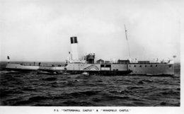 UNITED KINGDOM - Paddle Steamship - RPPC. Tattershall Castle & Wingfield Castle - Piroscafi