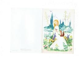Grande Double Cpm - Illustration - Suzanne BOLAND - Femme écureuil Oiseau Lapin - Illustrateurs & Photographes