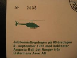 SWEDEN Sollentuna 1972 Tureberg Plane Helicoptere Helicopteres Helicopter Helicopters Hubschrauber Helikopter Suede - Helicopters
