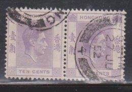 HONG KONG Scott # 158 Used Pair - KGVI Definitive - Hong Kong (...-1997)