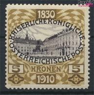 Österreich 176 Mit Falz 1910 Kaiser-Geburtstag (9350256 - Ungebraucht