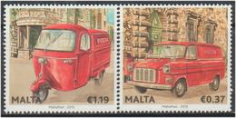 Malta 2013  Tema Europa   ** Malta 2013 (2v) Vehiculos Postales - Malta