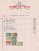 1949: Factuur Van ## Drukkerij Georges VAN VOOREN, Overpoortstraat,, 92, GENT ## Aan ## Mr. VAN AUTRYVE, Puinstraat, 23 - Printing & Stationeries