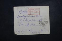 LETTONIE - Enveloppe En Recommandé De Riga Pour Paris En 1925, Affranchissement Plaisant Au Verso - L 45808 - Latvia