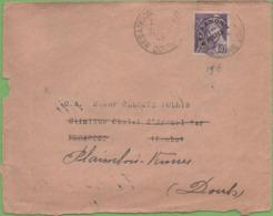 Préo Type Mercure 40c Violet  Seul Sur Devant De Lettre Avril/45 - Marcophilie (Lettres)