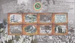 INDIA ,2017,MNH,  1954 FREEDOM MOVEMENT, GANDHI, SHEETLET OF 8v - Mahatma Gandhi