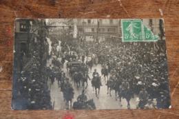 Montpellier Cortège Présidentiel 1913 Rue De La Loge Place Jean Jaures Cairol Photographe - Montpellier