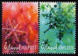 Aland - 2019 - Christmas - Mint Stamp Set With Varnish - Aland