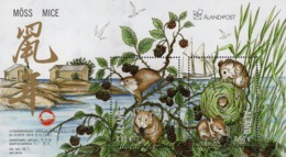 Aland - 2019 - Lunar New Year Of The Mouse - Mint Souvenir Sheet - Ålandinseln