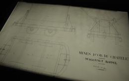 Mine MINES D'OR DU CHATELET CREUSE Voie Ferrée Industrielle Wagonnet KOPPEL Plan Contre Calque - Machines