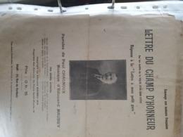 PATRIOTIQUE 14 -18 /LETTRE DU CHAMP D HONNEUR - Scores & Partitions